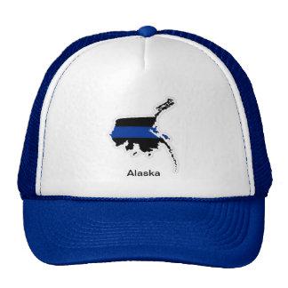 アラスカの薄いブルーライントラック運転手の帽子 トラッカー帽子