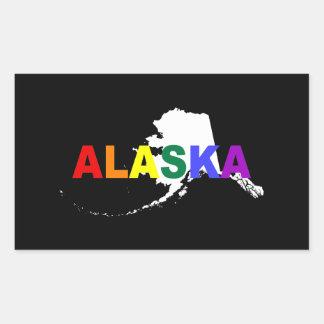 アラスカの虹の国家2 長方形シール