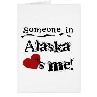 アラスカの誰かは私を愛します カード