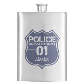 アラスカの警察の盾01 フラスク
