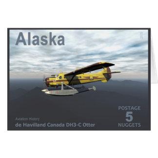 アラスカの郵便料金- de Havilland DH3-Cのカワウソ グリーティングカード