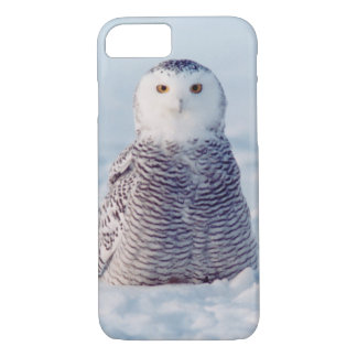 アラスカの野性生物の北極Snowyのフクロウの例 iPhone 8/7ケース