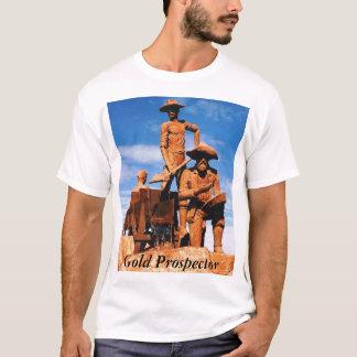 アラスカの金ゴールドの探鉱者の写真によって印刷されるティー Tシャツ