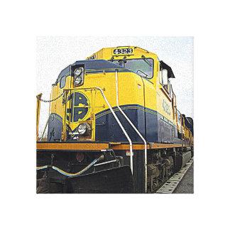 アラスカの鉄道 キャンバスプリント