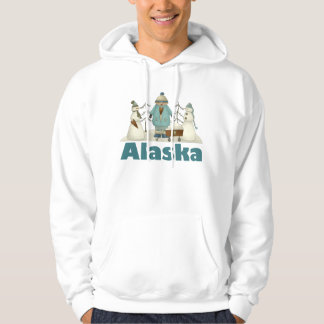 アラスカの雪だるまのTシャツのギフト パーカ