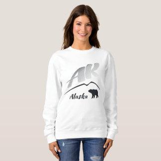 アラスカの (AK)Kodiakのヒグマ-黒いロゴ スウェットシャツ
