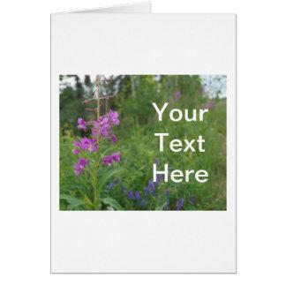 アラスカのFireweedの野生の花 カード