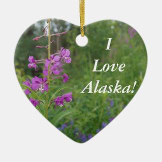 アラスカのFireweedの野生の花 セラミックオーナメント