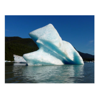 アラスカのMendenhall湖の氷山 ポストカード