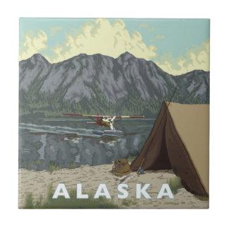 アラスカブッシュの平らな記念品 タイル