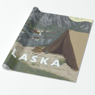 アラスカブッシュの平らな記念品 ラッピングペーパー