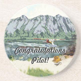 アラスカブッシュの飛行機および魚釣り旅行 コースター