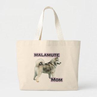 アラスカンマラミュートのお母さん4 ラージトートバッグ
