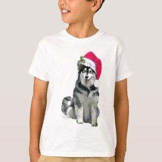アラスカンマラミュートのクリスマス Tシャツ