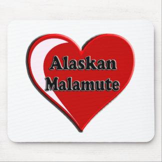 アラスカンマラミュートのハート マウスパッド