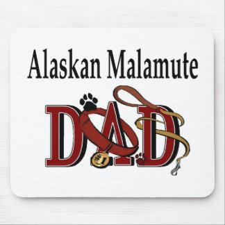 アラスカンマラミュートのパパの服装 マウスパッド