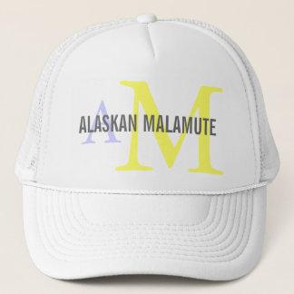 アラスカンマラミュートの品種モノグラム キャップ