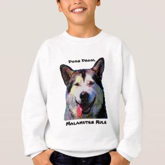 アラスカンマラミュートの眩ます男の子のスエットシャツ スウェットシャツ