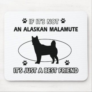 アラスカンマラミュートの親友のデザイン マウスパッド