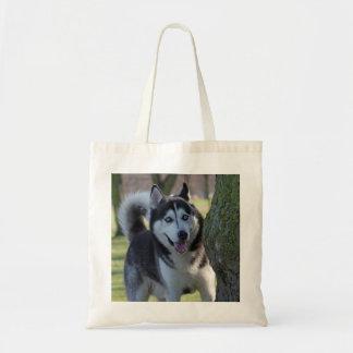 アラスカンマラミュート犬のトートバック、ギフトのアイディア トートバッグ