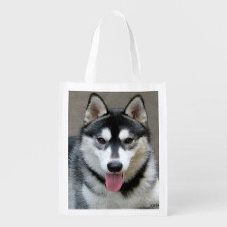 アラスカンマラミュート犬の写真 エコバッグ
