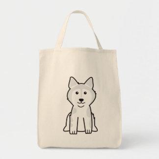 アラスカンマラミュート犬の漫画 トートバッグ