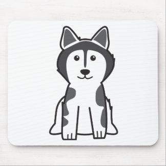 アラスカンマラミュート犬の漫画 マウスパッド