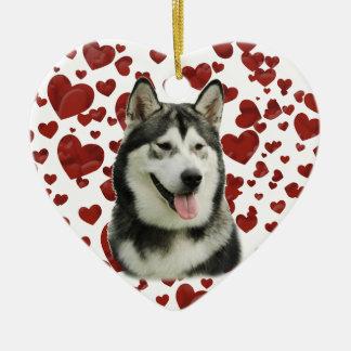 アラスカンマラミュート犬 セラミックオーナメント