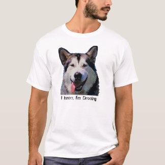 """アラスカンマラミュート""""私は熱狂の""""メンズTシャツです Tシャツ"""