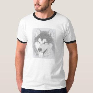 アラスカンマラミュート、険しい北犬 Tシャツ