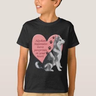 アラスカンマラミュートPawprints Tシャツ