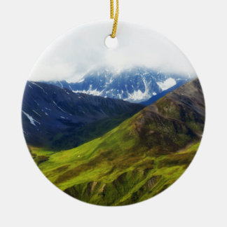 アラスカ山場面 セラミックオーナメント