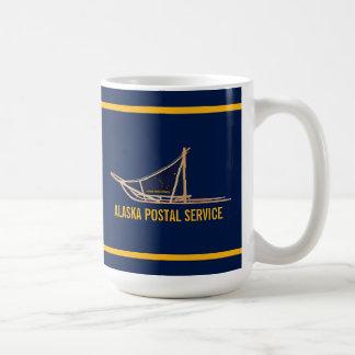 アラスカ犬のそりの郵便キャリア コーヒーマグカップ