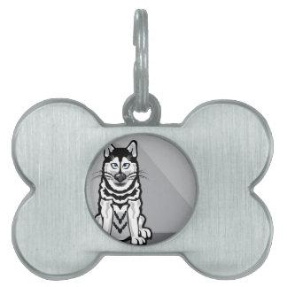 アラスカ犬の漫画 ペットネームタグ