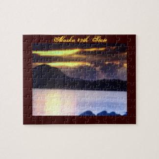 アラスカ第49の州のパズルおよびギフト用の箱 ジグソーパズル