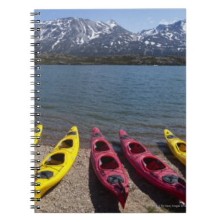 アラスカ2のBernard湖のカヤックのパノラマ ノートブック