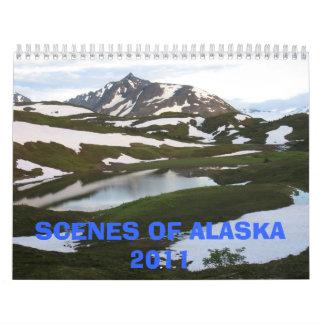 アラスカ2011年の場面 カレンダー