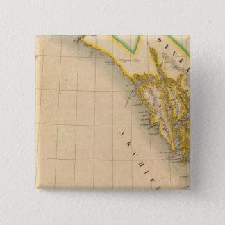 アラスカ、ブリティッシュ・コロンビア23 5.1CM 正方形バッジ