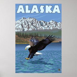 アラスカ-白頭鷲 ポスター