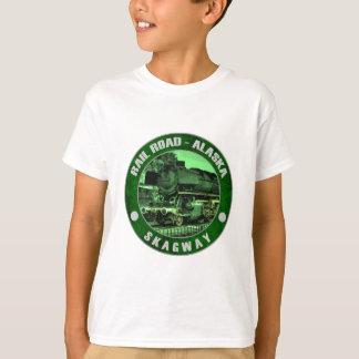 アラスカ-鉄道Skagway.png Tシャツ