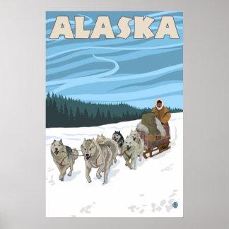 アラスカ- Dogsledding ポスター
