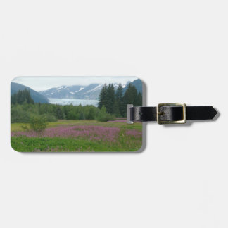 アラスカ、Mendenhallの氷河及び野生の花 ラゲッジタグ