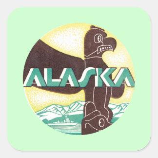 アラスカAkの鳥 スクエアシール