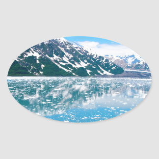 アラスカGlasier 楕円形シール