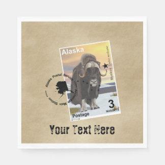 アラスカMuskoxの切手の記念品 スタンダードランチョンナプキン
