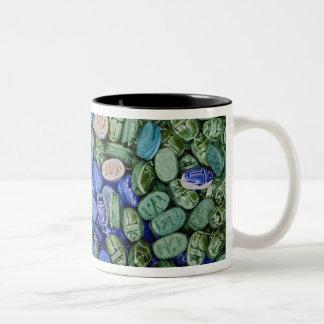 アラバスターのオオタマオシコガネのカブトムシ、Khan el Khalili ツートーンマグカップ