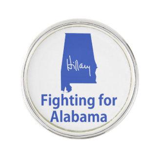 アラバマのために戦っているヒラリー ラペルピン
