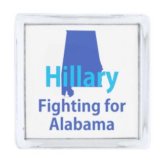 アラバマのために戦っているヒラリー 銀色 ラペルピン