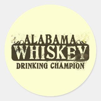 アラバマのウィスキーの飲むチャンピオン ラウンドシール