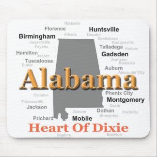 アラバマのプライドの地図 マウスパッド
